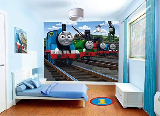 Wonderful Walltastic Thomas And Friends Wallpaper Mural, 8 X 10 Ft: Amazon.co.uk:  Kitchen U0026 Home Part 20