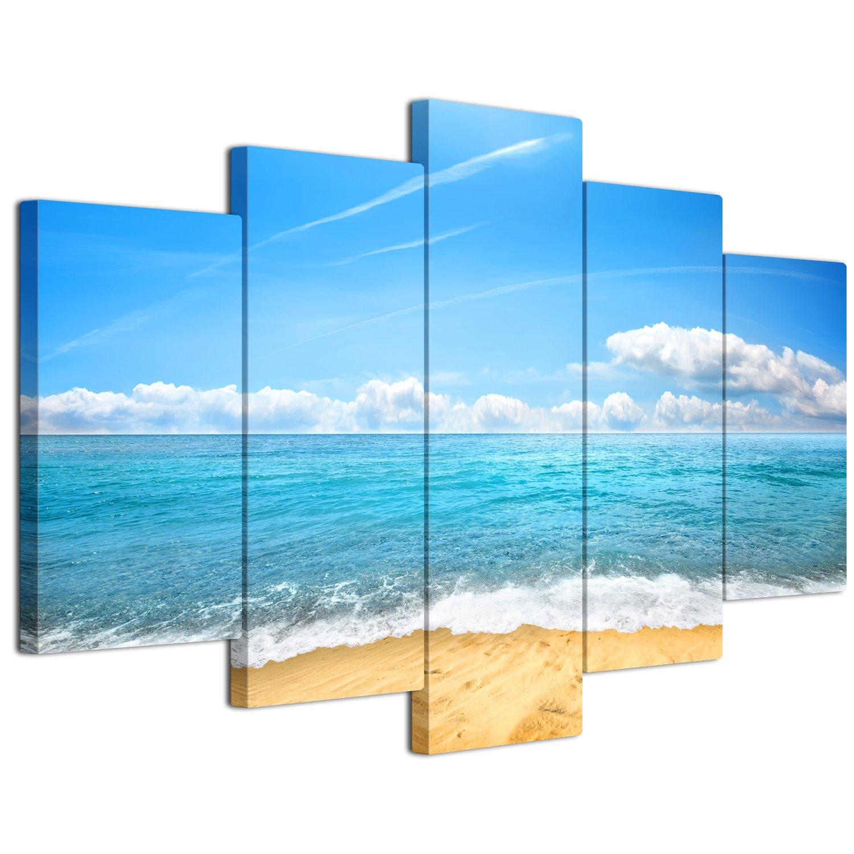 【リブラLibra】 5パネルセット アートパネル インテリアアート 海の景色 キャンバス絵画 (木枠付きの完成品) (L, LP1739) B075VL2T9L Large|LP1739 LP1739 Large