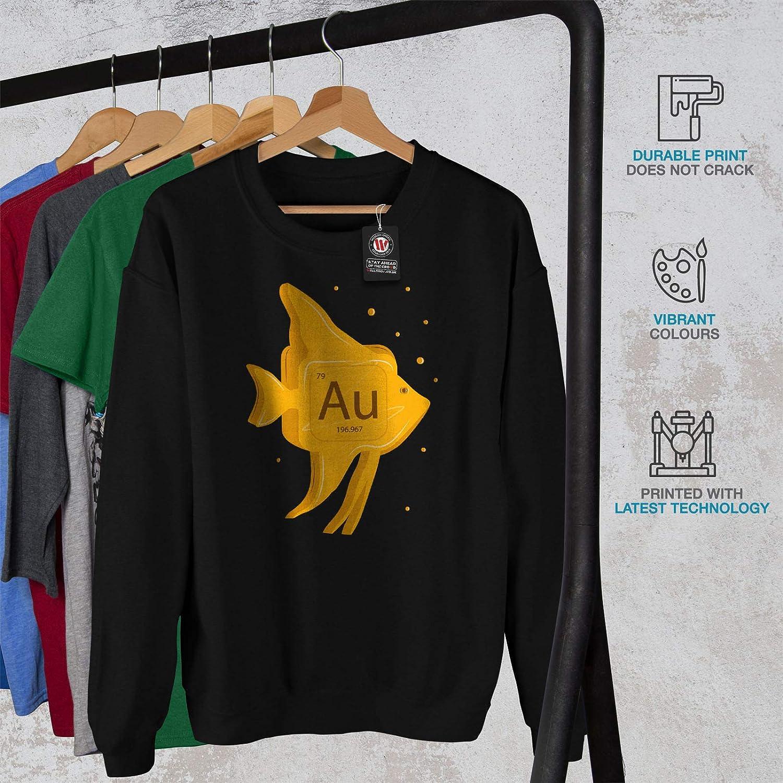 Fish Funny Casual Jumper wellcoda Gold Element Mens Sweatshirt