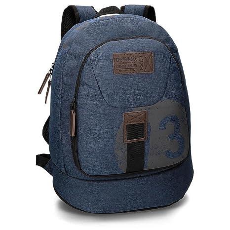 Pepe Jeans 6292351 Worn 73 Mochila Escolar, 22.85 litros, Color Azul