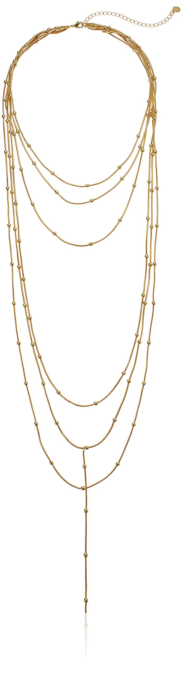 Jules Smith Womens Aida Layered Necklace, Gold, One Size