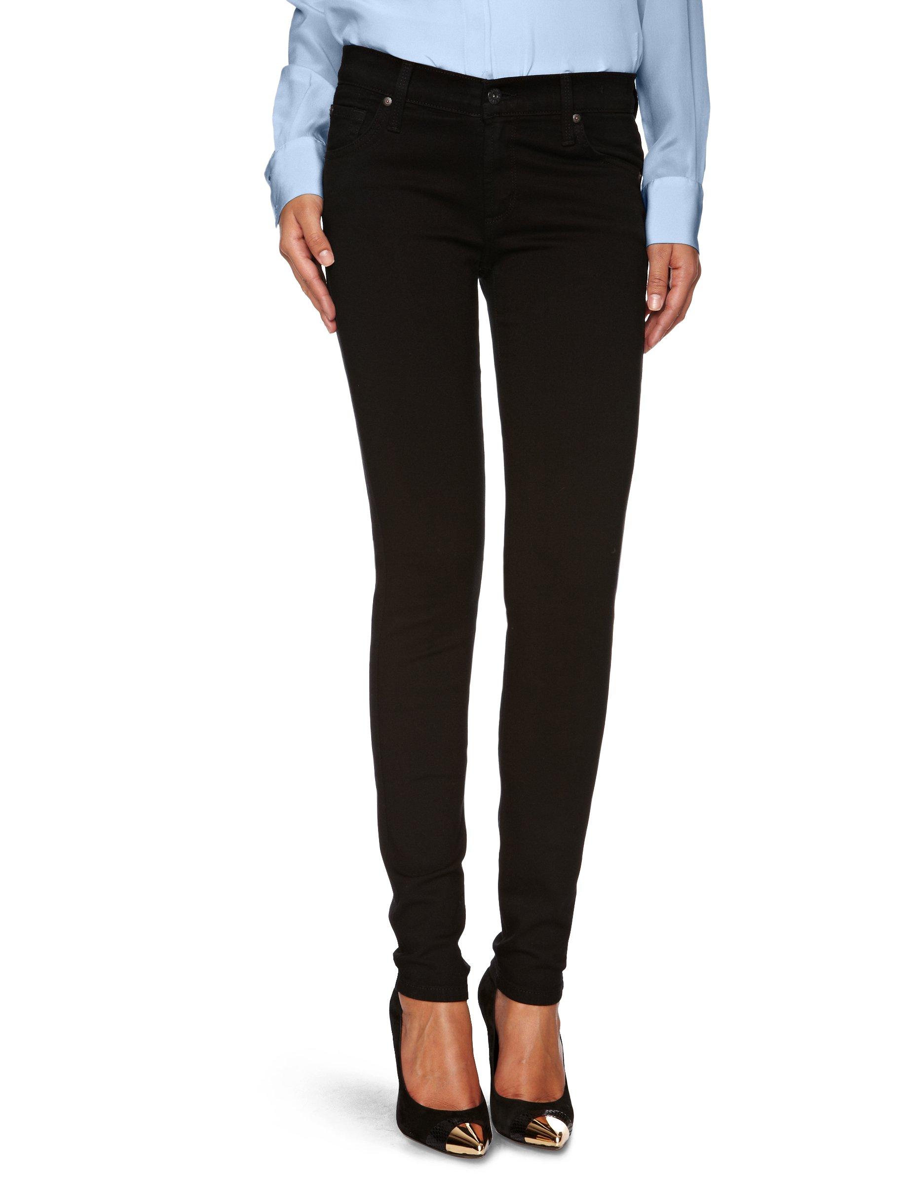 James Jeans Women's Plus Size Twiggy Legging, Black Clean 31