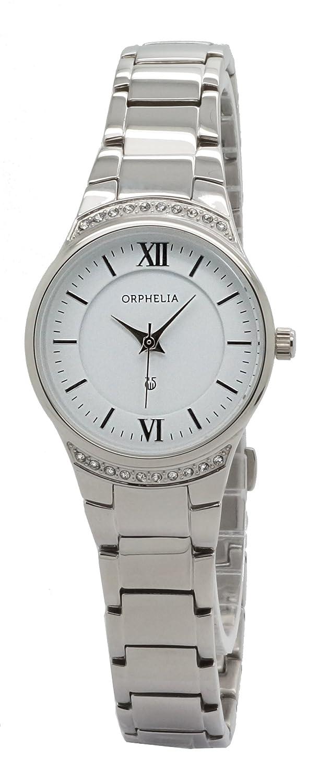 ORPHELIA Damen-Armbanduhr Analog Quarz Edelstahl 153-2717-18