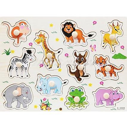 wooden puzzle animals