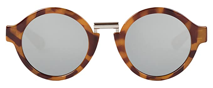 MR.BOHO, Leo tortoise hackney with silver lenses - Gafas De Sol unisex multicolor (carey), talla única