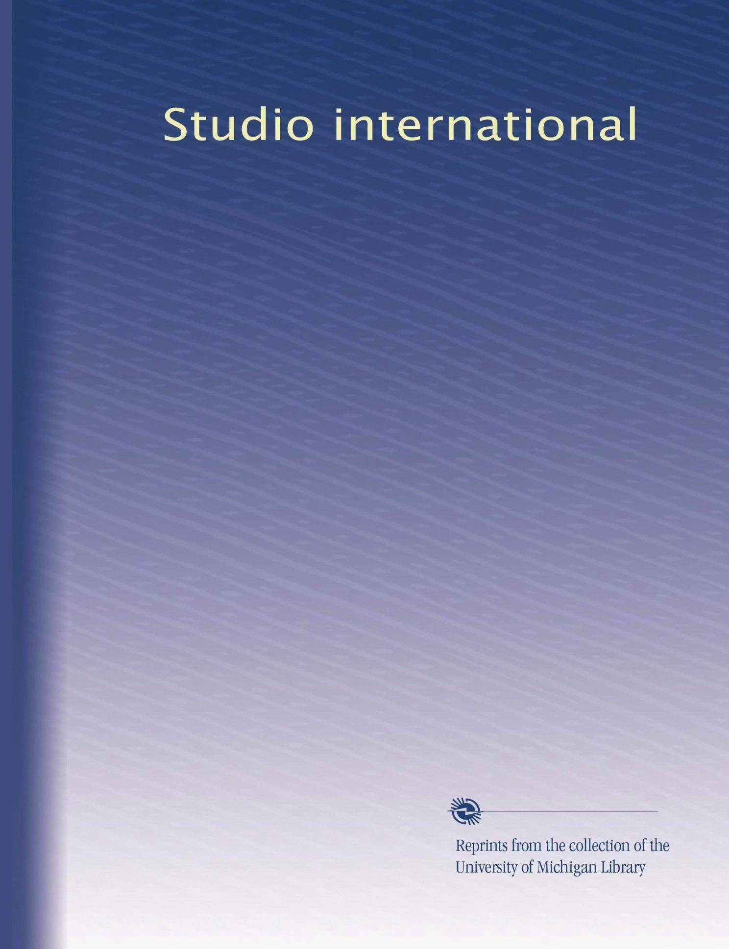 Studio international (Volume 50) pdf