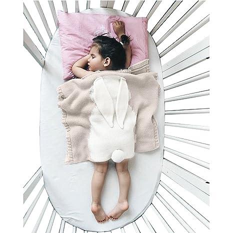 Manta para bebé Oenbopo para niños, adorable diseño de conejo