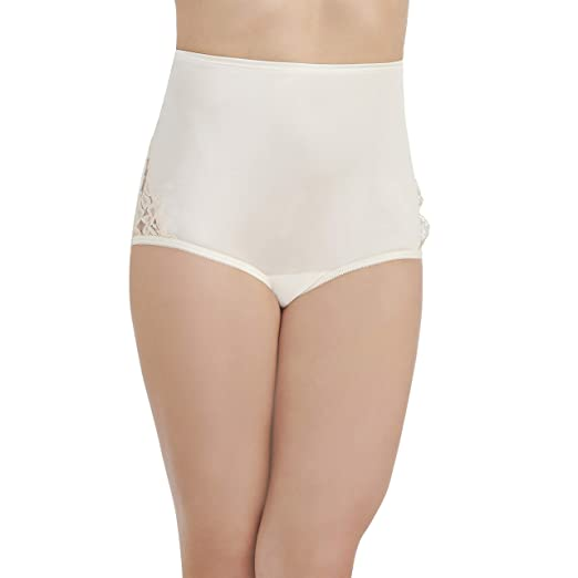 adaef6e04aae Vanity Fair Women's Plus Size Perfectly Yours Lace Nouveau Brief Panty  13001, Star White,