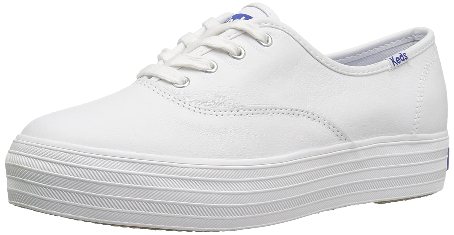 White Keds Women's Triple Leather Sneakers