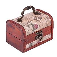 Portagioie in legno cassapanca, legno vintage Pearl Necklace Bracelet Gift Holder organizer Handmade retro europeo classico in legno di Old memoria