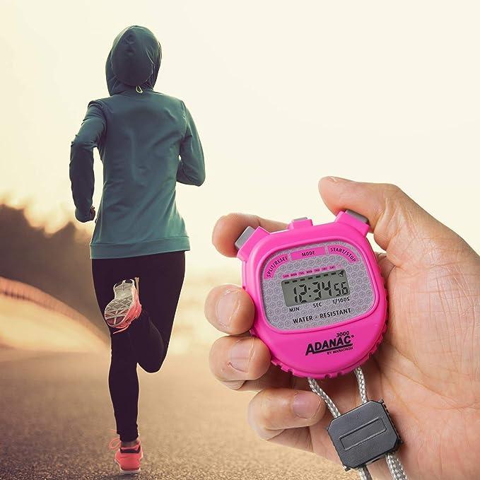 Marathon Adanac 3000 Digital cronómetro Temporizador con Pantalla Extra Grande y Botones, Resistente al Agua