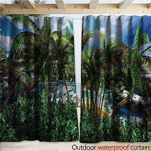 warmfamily Pérgola Hawaiana para Patio, diseño de jardín botánico con Flores de Hibisco Rosa Aloha Nature W108 x L96 Seafoam Magenta y Verde: Amazon.es: Jardín
