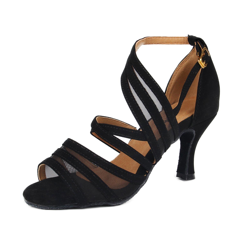 Sukutu SU002 Chaussures de danse en satin pour femme Idéales pour le tango ou la salsa