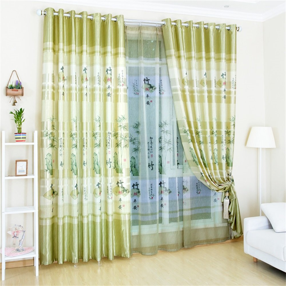 TIANTA- A Set Of 2 Pcs Bedroom Living Room Balcony Semi-shading Satin Fabric Curtain Simple Modern Finished Product decorate ( Size : 1.42m (widthheight) )