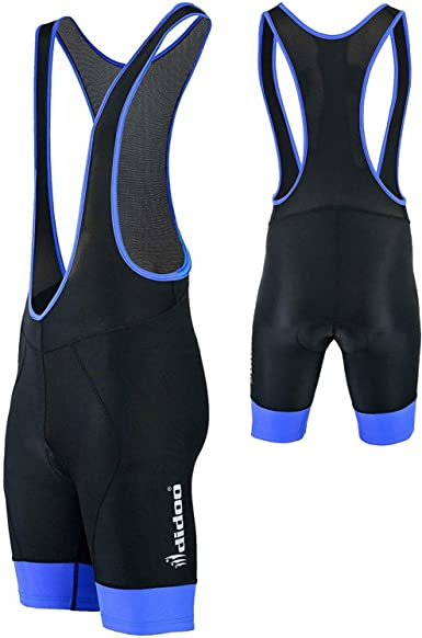 Didoo Men/'s Cycling Bib Shorts Coolmax Padding Biking Pants Lightweight Breathable High Wicking and Anti-Slip Design