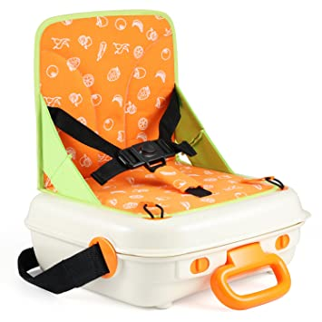 Glonova Travel Booster Seat Dining For Kids Child Todder Baby With Plastic  Storage Case, Portable