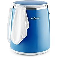 OneConcept Ecowash-Pico • machine à laver • mini-lave-linge • lave-linge de camping • ouverture sur le dessus • essorage • capacité 3.5 kg • 380 Watt • économie d'énergie et d'eau • minuterie • bleu