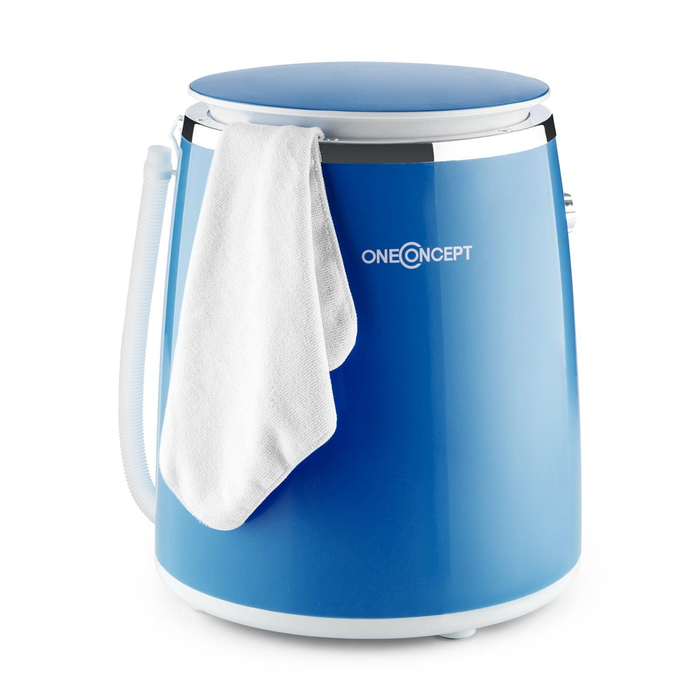 OneConcept Ecowash-Pico • machine à laver • mini-lave-linge • lave-linge de camping • ouverture sur le dessus • essorage • capacité 3.5 kg • 380 Watt • économie d'énergie et d'eau • minuterie • bleu MNW4-EcowashPicoBI