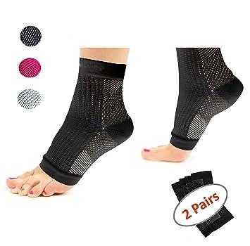 6b9a5e4e603e Amazon.com  Plantar Fasciitis Socks (2 pairs) Feet  Heel Pain Relief ...