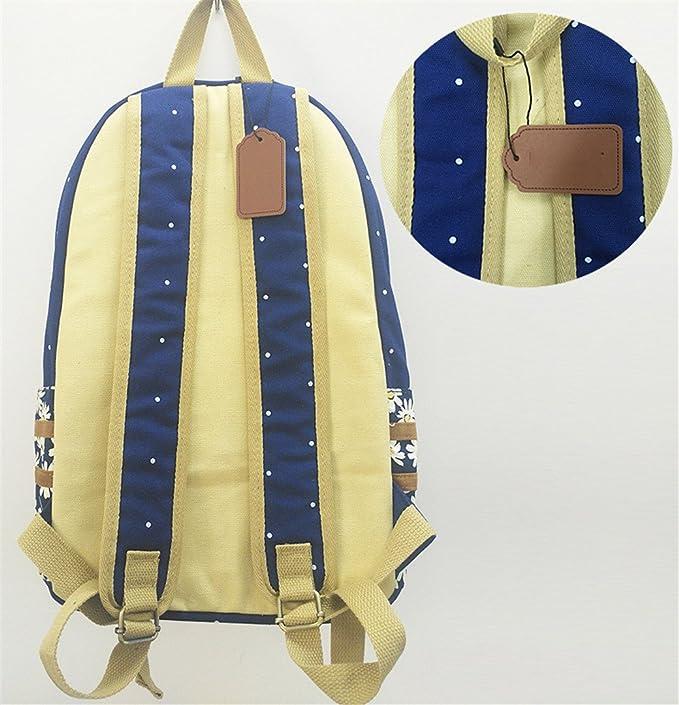 Amazon.com: Cat Canvas Unicorn Flower Wave Point Rucksacks Backpack For Teenagers Girls Women School Travel Shoulder Bag PINK 3: Clothing