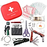 Aootek Survival Kit Emergency SOS Survive Tool Pack for Camping Hiking Hunting Biking Climbing Traveling and Emergency