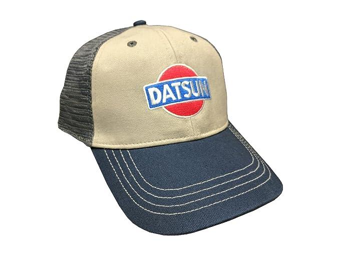 aff2f194c98e1b Image Unavailable. Image not available for. Colour: Custom Nissan Datsun  Mesh Snapback Cap - Tri-Tone