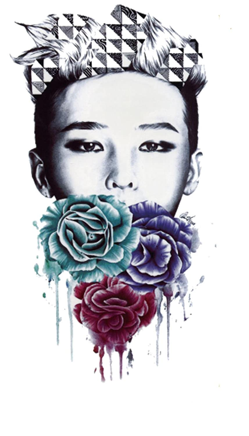 G-dragon flower temporary tattoo waterproof tattoos