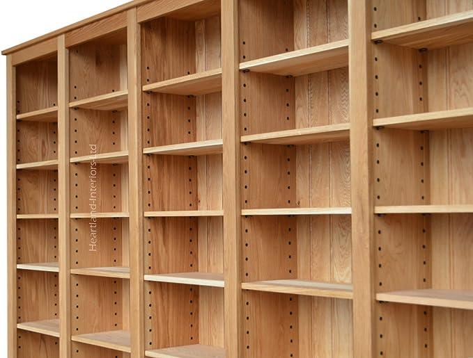 Madera maciza de roble librería, 213,36 cm alto x 274,32 cm ...