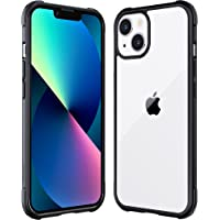 Mkeke Compatible with iPhone 13 Case, Not Yellowing Shockproof 13 Phone Clear Case with Protective Bumper Slim Fit for…