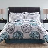 Ellison Great Value Tasmin II 6 Piece Bed in a Bag, Twin, Blue