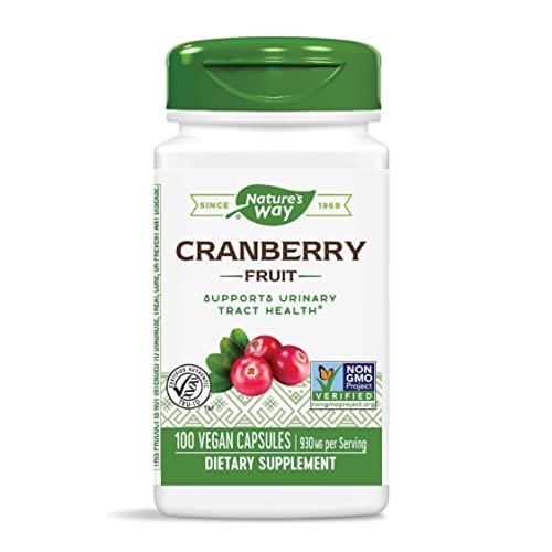 Nature s Way Premium Herbal Cranberry Fruit, 930 mg per serving, 100 Capsules