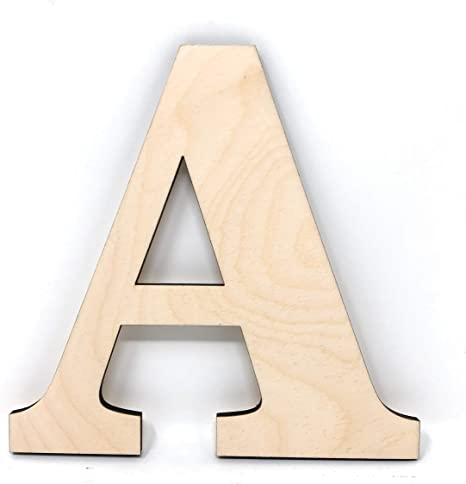 Gocutouts 12 Wooden A Unfinished Wooden Letters Paint Ready Wall Decor Times Letter 12-1//4, R