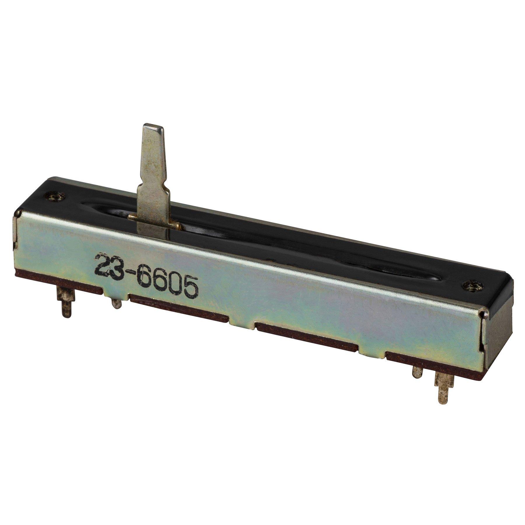 B25K 25K Ohms Slide Potentiometer 2'' Travel with Dust Cover