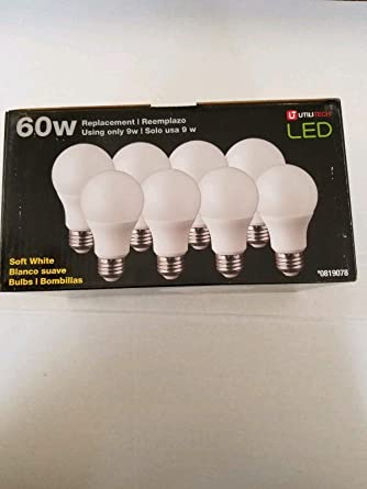 Utilitech 8-Pack 60 W Equivalent Soft White LED Light Bulb - - Amazon.com