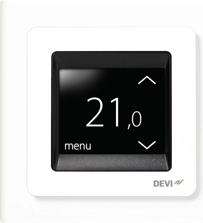 Devi UP-Uhrenthermostat devireg Touch m.Rahm 16A 230V Raumthermostat/Uhrenthermostat 5703466215135 140F1064