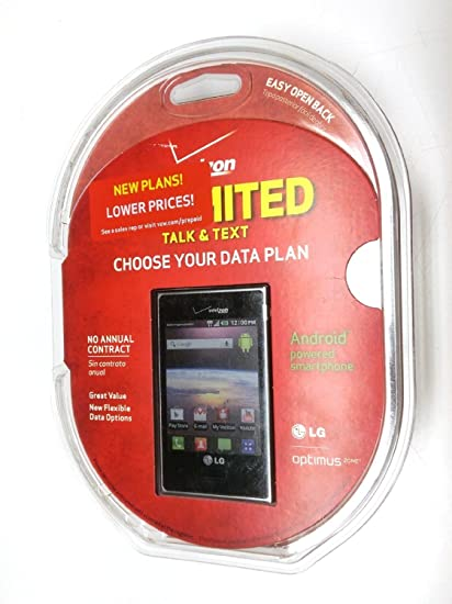 LG Optimus Zone Prepaid Phone (Verizon Wireless) - For Prepaid Verizon  Smartphone Plan (Discontinued by Manufacturer)