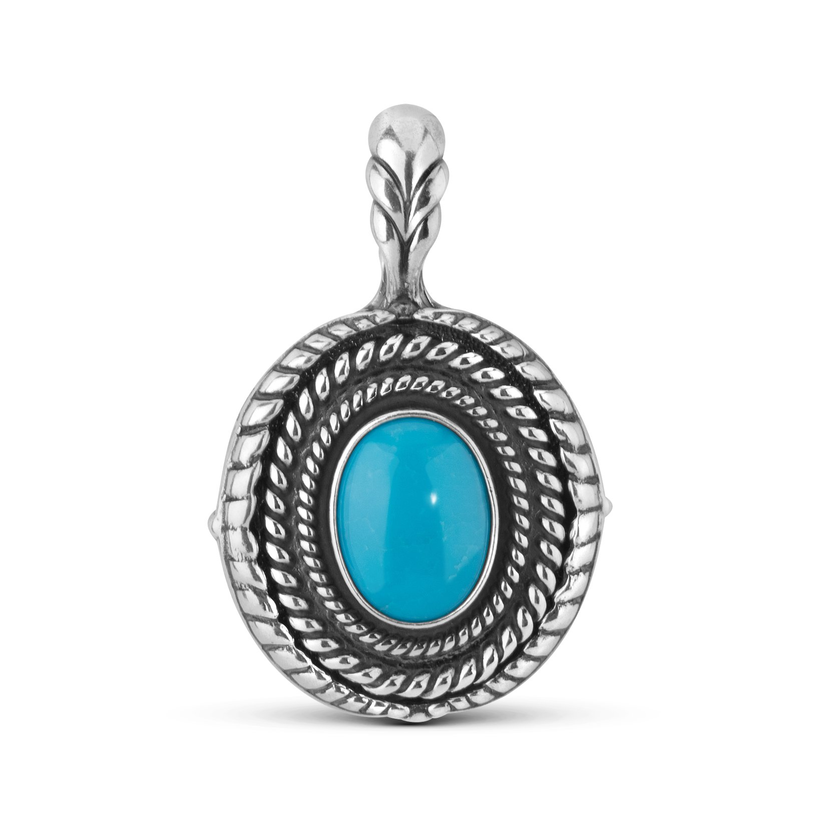 Sterling Silver Turquoise Interchangeable Pendant Enhancer