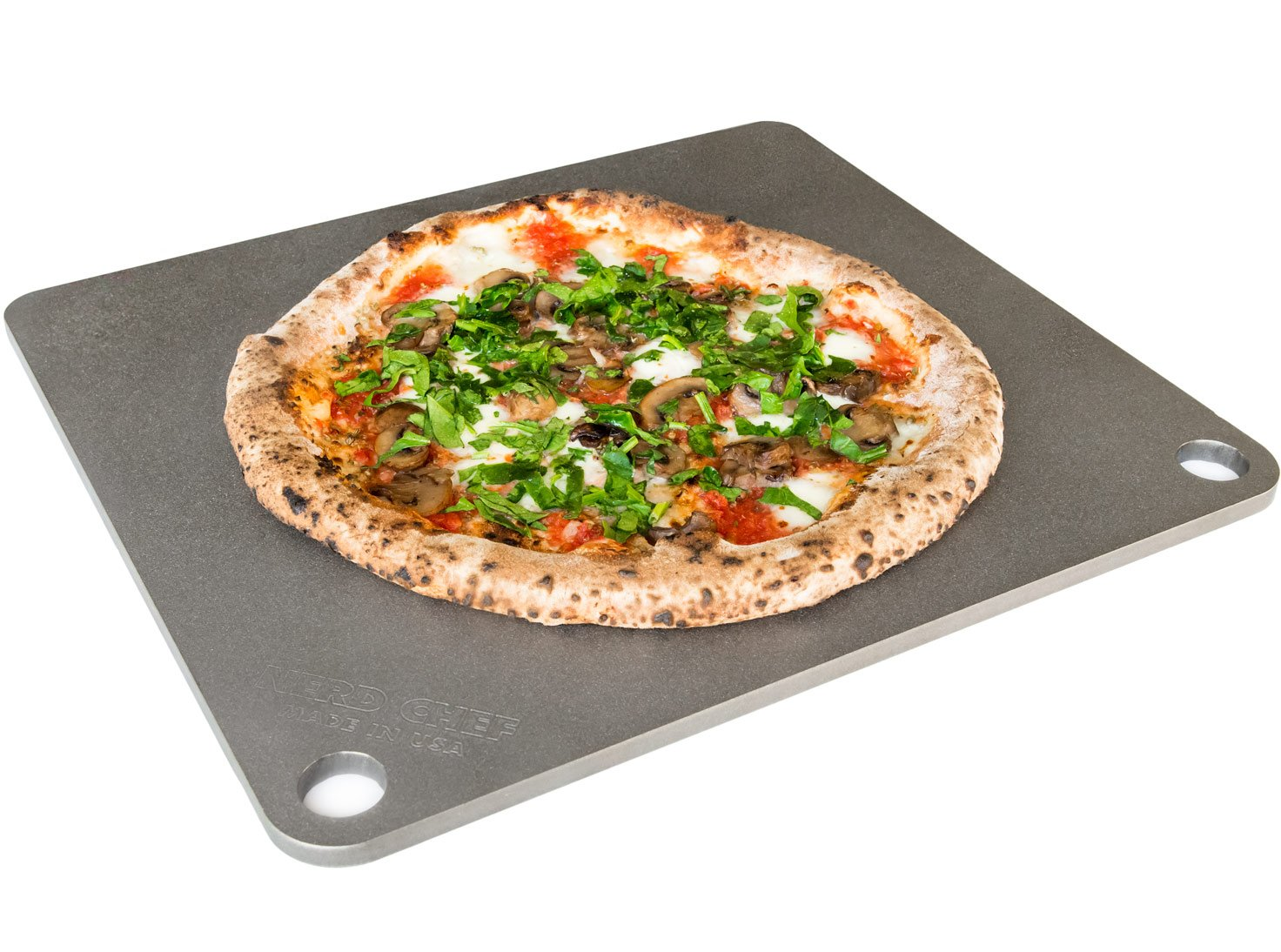 NerdChef Steel Stone - High-Performance Baking Surface for Pizza (.375'' Thick - Pro) by NerdChef