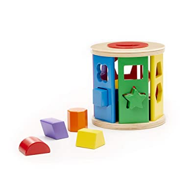 Melissa & Doug Match & Roll Shape-Sorter (Classic Wooden Toy, Sturdy Wooden Construction, Great Gift for Girls and Boys - Best for Babies and Toddlers, 12 Month Olds, 1 and 2 Year Olds)): Melissa & Doug: Toys & Games