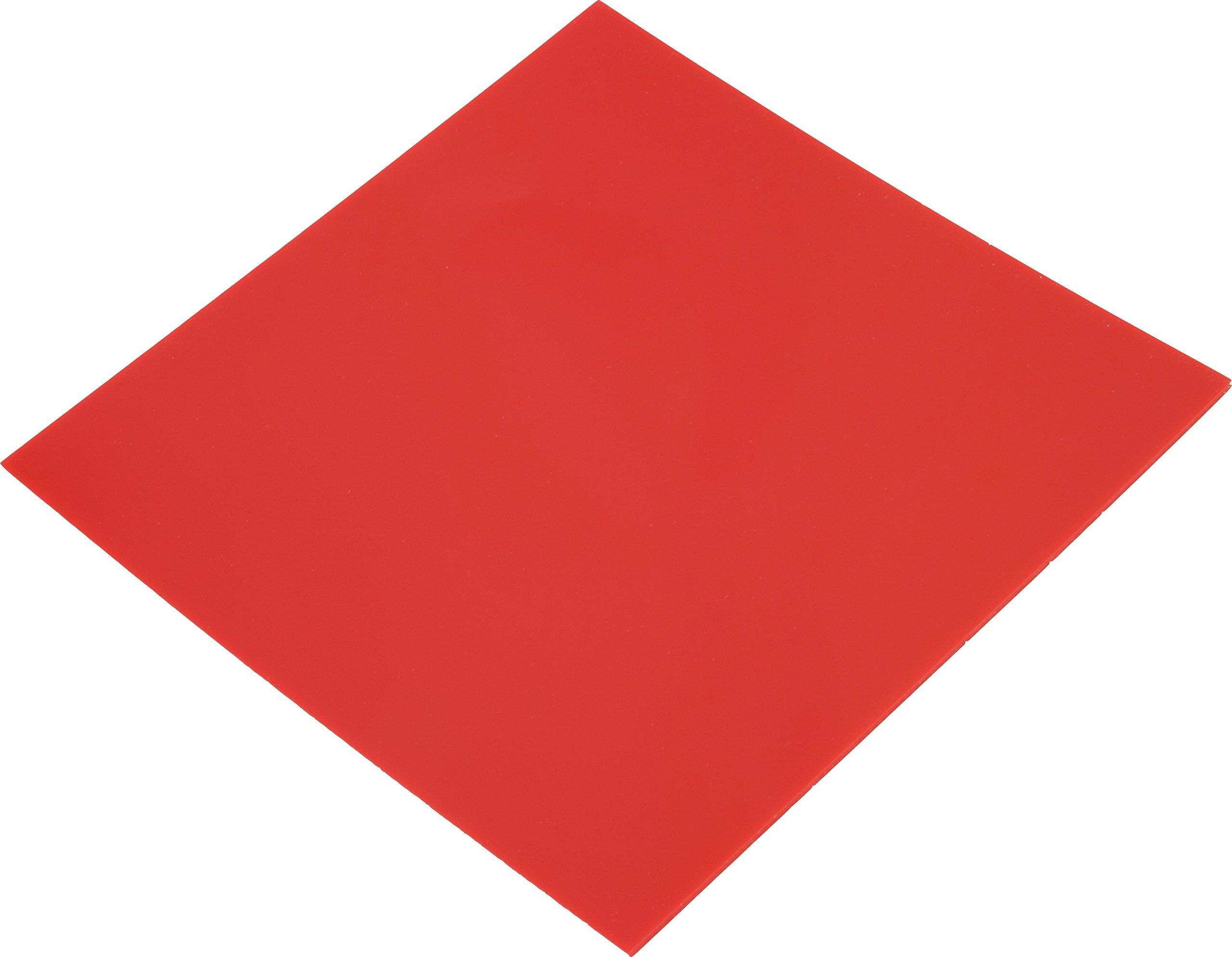 Pepetools 196.PU Durometer Urethane Pad, 6'' x 6'', 1/16'' Thick, 95 amp, Red