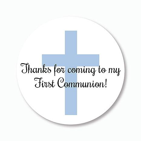 Amazon.com: 40 pegatinas Primera Comunión, gracias por venir ...