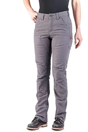 98188259d23a Dovetail Workwear Pants for Women: Britt Utility Straight Fit Stretch  Carpenter Pant, Dark Grey