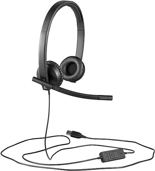 5 opinioni per Logitech H570E Cuffie USB Stereo, Nero/Antracite