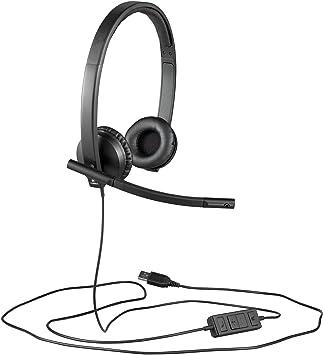 Logitech H570e USB Stereo Headset  Amazon.co.uk  Electronics 43a56351e6