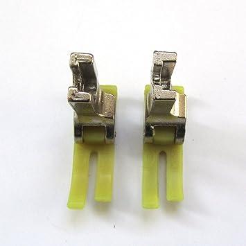 kunpeng – 2pcs teflón MT18 gran máquina de coser Industrial pie para dlm-522,