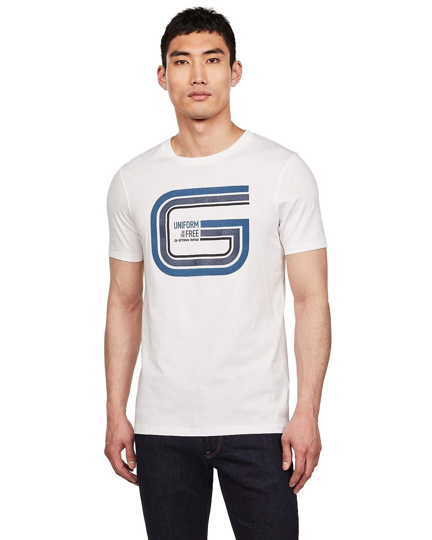 G-STAR RAW Graphic 9 Slim Round Neck Camiseta para Hombre