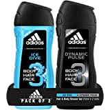 Adidas Dynamic Pulse Shower Gel, 250ml with Ice Dive Shower Gel, 250ml