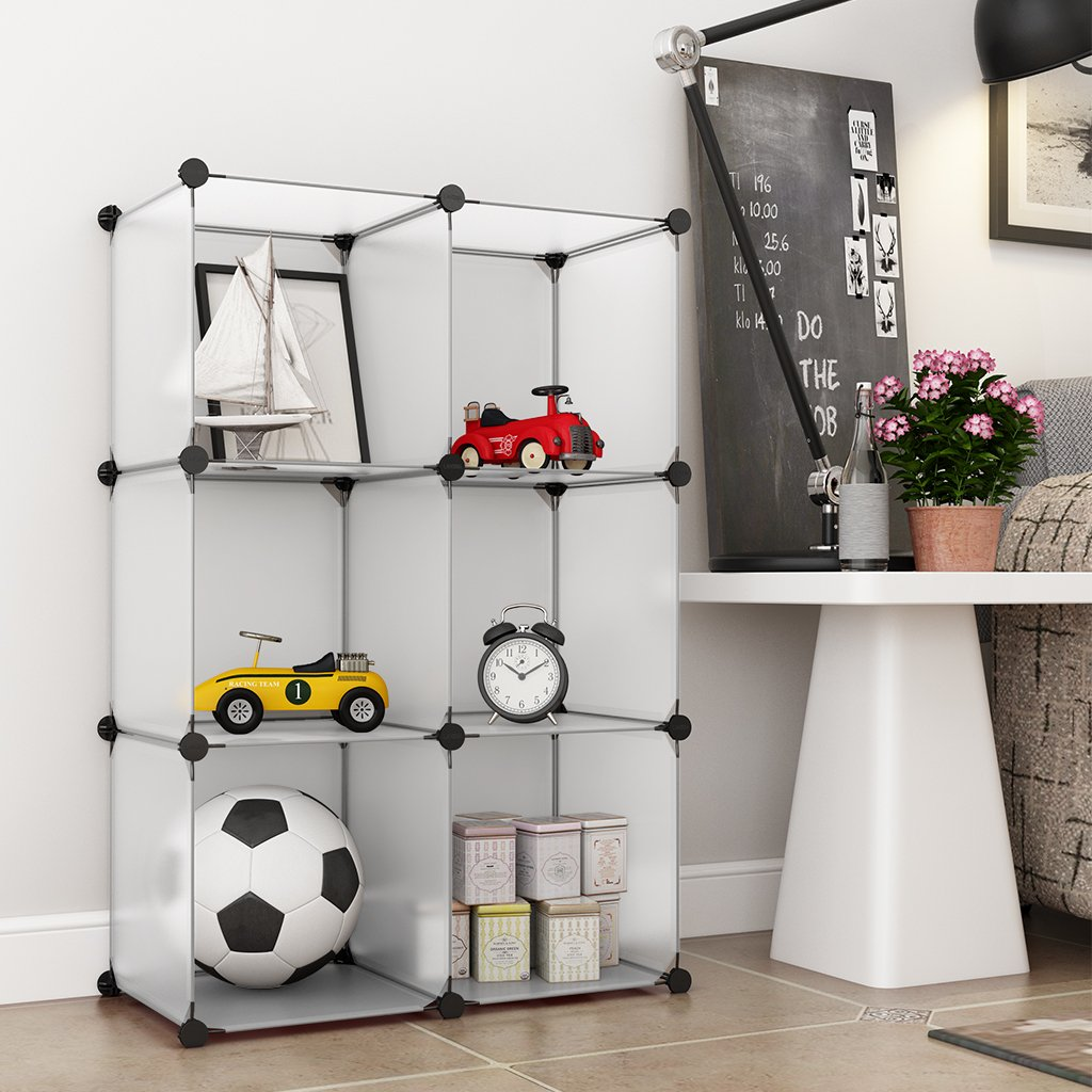 Langria Storage Cube Organizer Diy Plastic Closet Shelf 6