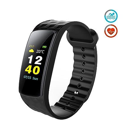 Pulsera Actividad, Antimi Pantalla a Color Fitness Tracker Reloj Inteligente Ritmo Cardiaco & IP67 a