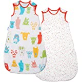 The Gro Company - Saco de dormir Grobag Ositos y Topos - Pack de 2 / 0-6 m Tog 2,5 multicolor